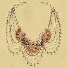 Michal Negrin ~ Magnificent Lace Necklace 14087