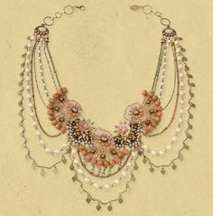 Michal Negrin ~ Magnificent Lace Necklace 14087