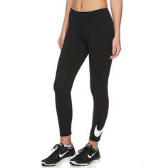 Women's Nike Club Crop Leggings, Size: X LARGE, Grey (Charcoal) ($26) ❤ liked on Polyvore featuring pants, leggings, grey, wide-waistband leggings, nike leggings, wide-leg trousers, charcoal grey leggings and charcoal gray leggings