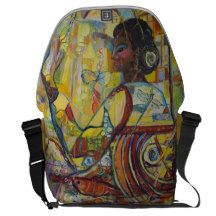 Genes Courier Bag features all original art by Avonelle Kelsey