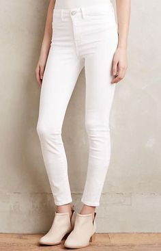0117e446ca19 Anthropologie MiH BODYCON High Rise Skinny Leg Jeans in White Denim 30  preown  Anthropologie