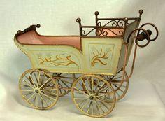 Antique Rare Large Marklin Doll Carriage c1910