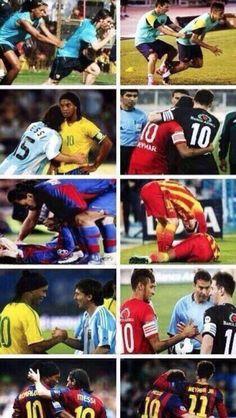 "QUOTE: Lionel Messi: ""Ronaldinho took care of me, so I'll take care of Neymar."""