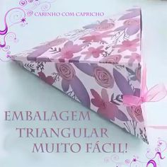 Instruções Origami, Paper Crafts Origami, Cardboard Crafts, Diy Paper, Diy Crafts Hacks, Diy Crafts For Gifts, Diy Home Crafts, Diy Gift Box, Easy Christmas Crafts