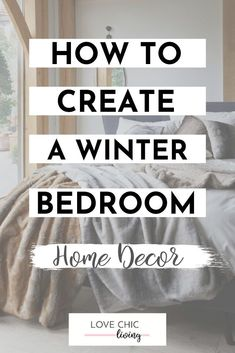 There's nothing quite like having a cozy winter bedroom. These 5 winter bedroom decor ideas will inspire you to change your room with the seasons. Mix up your colour scheme, discover the latest mood lighting trends and see other easy ways to add winter decor to your bedroom #lovechicliving