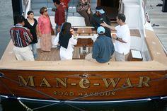#TRANSOM: Man-E-War, Road Harbour #Boat #Transom #BoatTransom  TRANSOM #TECHNIQUE: #GoldLeaf  #BOAT #BUILDER #BoatBuilder: #BaylissBoatworks, #NorthCarolina