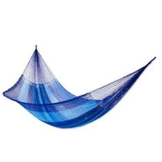 Get the Novica Multicolor Hand Woven Double Striped Mayan Hammock, which is a fair trade product in association with National Geographic and it& certified as well. Rope Hammock, Hammocks, Camping Hammock, Hammock Stand, Mayan Hammock, Design Department, Beach Gardens, Bed Sizes