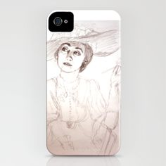 Nostalgia iPhone Case by Vargamari - $35.00 - A pencil sketch self-portrait from my actress time...long time ago...