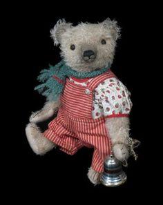 Pat Murphy dungaree bear.