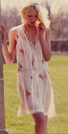 Haute Hippie Pleated Floral & Lace Dress is made of 100% silk and to my mind it personifies femininity, or at least that aspect of femininity I'd like to harness and exude.