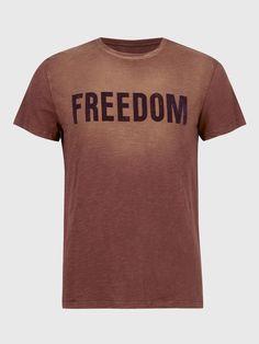 Freedom crew neck tee John Varvatos, Freedom, Crew Neck, Tees, Mens Tops, T Shirt, Fashion, Liberty, Supreme T Shirt