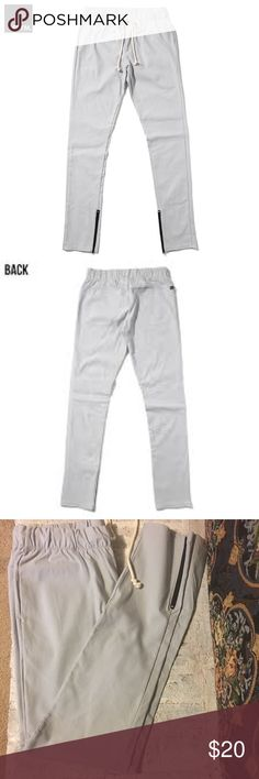 """EPTM Men's Joggers/Break Beats Techno Pants Gray In excellent never worn condition! In Dilla Silver Grey. Slit side and back pockets. Ankle zippers. Drawstring waist! Inseam 34"""" super stretchy! EPTM. Pants Sweatpants & Joggers"""