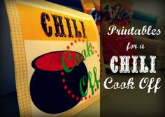Lucy Baby Designs: Chili Cook Off + Printables