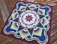 Glacier Star Quilt by Jackie-Quilts!, via Flickr