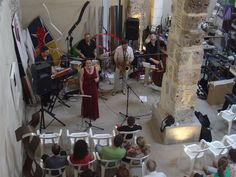 Eva, Fun Jazz i Ramon Cardo durant el concert (15-6-2013). Foto: Rafa Amorós.