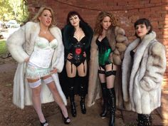 Four lovely and fabulous Ladies in her lovely Furcoats...