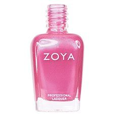Zoya Nail Polish in Yvette - Bright pearly fuchsia-pink with subtle frosty purple duochrome shimmer