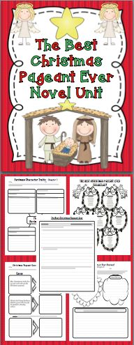 The Best Christmas Pageant Ever Novel Unit: Your students will have a blast with this engaging novel study! There is an activity for each chapter, vocabulary activities, and a quiz. Relax and enjoy the holiday season with your class! $