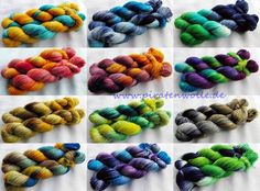 handgefärbte Sockenwolle, 4-fach handdyed sockyarn 4ply www.piratenwolle.de