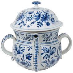 Blue and White Delft Possett Pot | From a unique collection of antique and modern tableware at https://www.1stdibs.com/furniture/dining-entertaining/tableware/