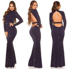629591ec0f52 Nádherné dlhé spoločenské šaty KouCla Navy. Novinky – Sissy Boutique