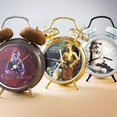 Star Wars Talking Alarm Clocks. I want the Droids, but the Storm Trooper one is really cool!