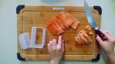 Pressed sushi (Oshizuchi) is a popular sushi dish at many Japanese restaurants in Toronto and around the world. Now, you can learn how to make this at home! Sushi Dishes, Cooking Videos, Salmon, Restaurant, How To Make, Restaurants, Atlantic Salmon, Supper Club, Dining Room