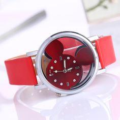 Rhinestone Watch Women  Fashion Brand Luxury Mickey Mouse Casual Quartz Wristwatches Ladies Dress Clock Girl Cartoon Watch //Price: $2.6 & FREE Shipping //