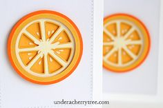 in-lay layering technique, Jin's { Extreme } Orange Cards Cherry Tree, Silhouette Projects, Svg Cuts, Handmade Cards, Layering, Cricut, Paper Crafts, Scrapbook, Orange