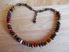 Mookite rondelle necklace £9.00