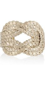 Giambattista Valli gold rope cuff