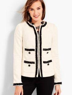 Talbots: Provence Tweed Jacket