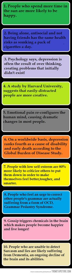 Interesting...10 psychological facts…