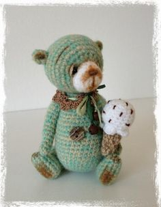 Looking for crocheting project inspiration? Check out Mini Thread Crochet Bear - TheTinyToyBox's