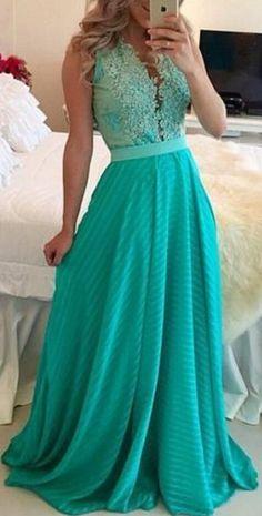 Deep V-Neck Slim Waist Full-Length Dress - Oh Yours Fashion - 2