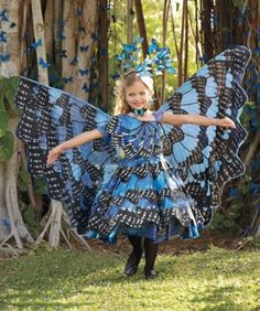 blue monarch butterfly girls costume - Only at Chasing Fireflies - Flit, flutter and captivate everyone in this beautiful costume.