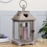 Country Heart Rustic Lantern