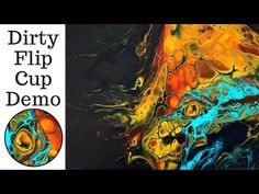 BIG CELLS Fluid Painting Acrylic Pouring with Floetrol and Silicone - YouTube