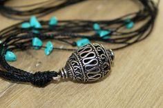 Turquoise hanger ketting hanger kralen door TwoBirdsOfPassage