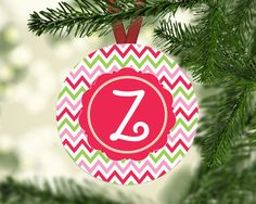 Monogram Ornament  Christmas Ornament  by TheInspiredStudio