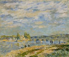 The Bridge at Sèvres (oil on canvas, 1877) / by Alfred Sisley