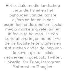 Het sociale media landschap verandert snel en het bijhouden van...