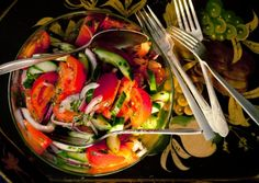 Tomato Cucumber Salad with Parsley Dressing | Vegetarian Times