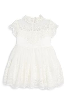 Bardot Junior Scallop Lace Dress (Baby Girls) available at #Nordstrom