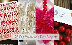 Great Ideas -- 25 Valentine's DAY ♥ Projects to Make! -- Tatertots and Jello My Funny Valentine, Saint Valentine, Valentine Day Love, Valentine Day Crafts, Holiday Crafts, Holiday Fun, Valentine Ideas, Valentine Decorations, Holiday Ideas