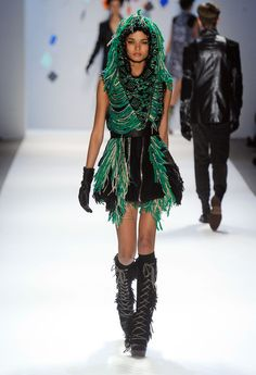 pictures of runway fashion | model walks the runway at the Custo Barcelona Fall 2012 fashion show ...