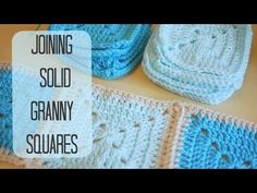 CROCHET: How to join solid granny squares | Bella Coco - YouTube