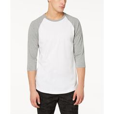 American Rag Men's Raglan T-Shirt, Created for Macy's ($25) ❤ liked on Polyvore featuring men's fashion, men's clothing, men's shirts, men's t-shirts, ar pewter hthr, mens 3 4 sleeve shirts, mens raglan t shirt, mens raglan short sleeve t shirts, mens 3 4 sleeve t shirts and mens stitch shirt
