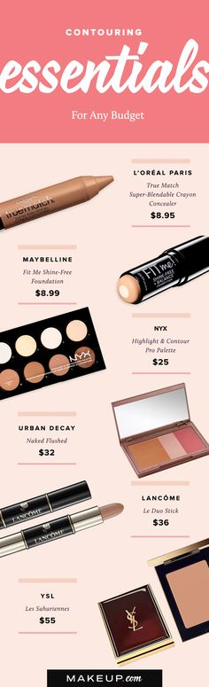 Contouring should not be expensive! Any girl can pull off the face-slimming technique on ANY budget if she knows how to shop for contour kits, bronzer and highlighter. Here are the best affordable drugstore and luxury contour products around!