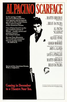 Click to View Extra Large Poster Image for Scarface Scarface Film, Al Pacino Scarface, Scarface Poster, Movie Poster Frames, Iconic Movie Posters, Original Movie Posters, Iconic Movies, Film Posters, Retro Posters